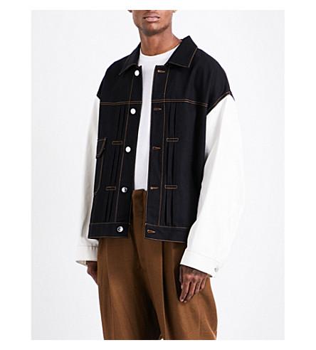 RAF SIMONS Oversized denim jacket (Black