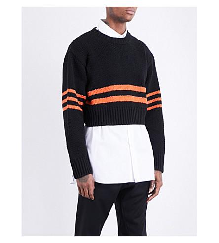 RAF SIMONS Americano wool jumper (Black