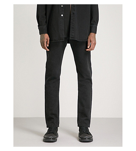 RAF SIMONS Brand-patch regular-fit jeans (Black
