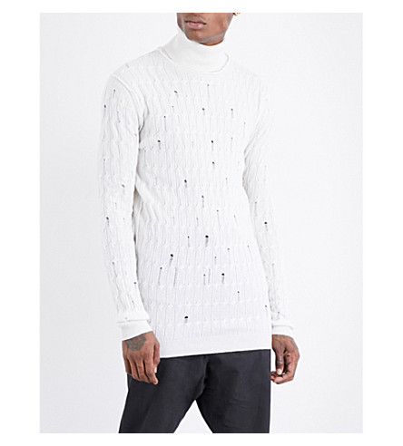 DAMIR DOMA Laddered wool jumper (Bone