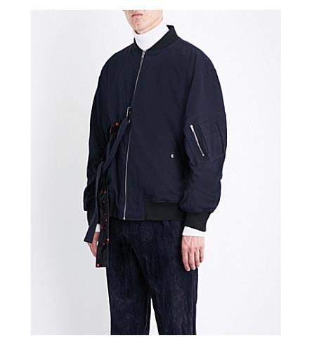 DAMIR DOMA Oversized cotton and wool-blend twill jacket (Indigo
