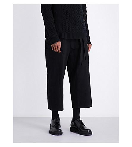 DAMIR DOMA Wide-leg cotton-blend trousers (Coal