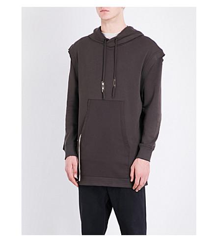 DAMIR DOMA Cotton-jersey hoody (Dark+moss