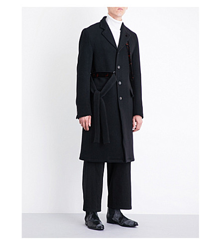DAMIR DOMA Deconstructed wool and mohair-blend coat (Coal