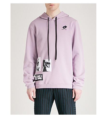DAMIR DOMA Appliquéd cotton-jersey hoody (Lavander