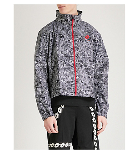 DAMIR DOMA Damir Doma x Lotto dotted shell jacket (Coal+white