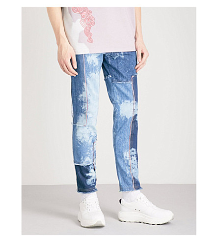 DAMIR DOMA Bleach-dyed slim-fit skinny jeans (Bleached+combination