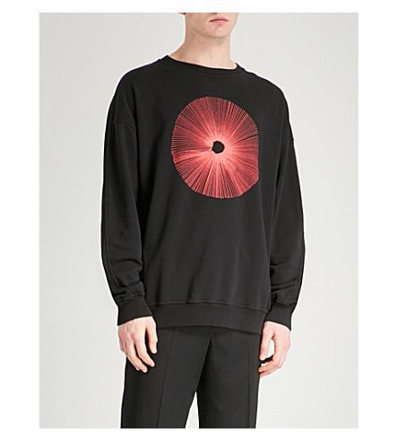 DAMIR DOMA Embroidered cotton-jersey sweatshirt (Coal