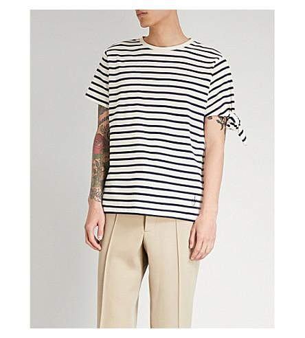 ANDERSON Camiseta jersey JW rayas de algodón con Blanco anudadas de punto q564xwn4d