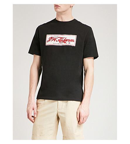JW ANDERSON Florence Cola cotton-jersey T-shirt (Ebony