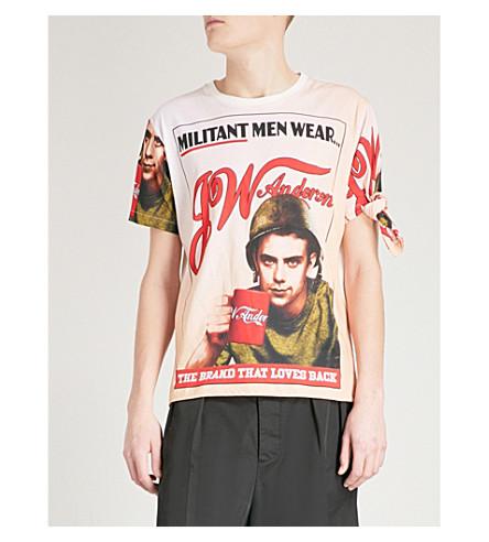 JW ANDERSON Militant Men cotton-jersey T-shirt (Blush