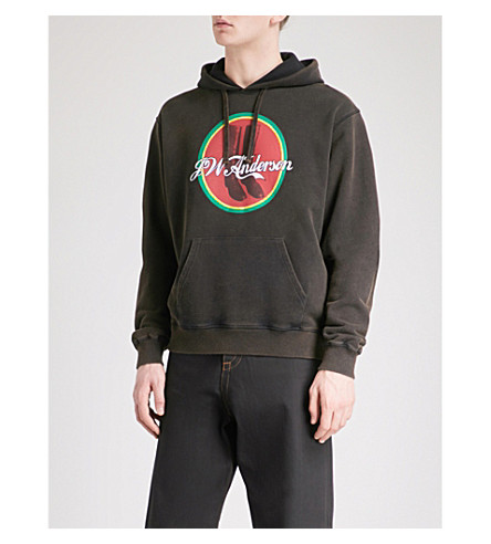 JW ANDERSON Cola Boots cotton-jersey hoody (Ebony