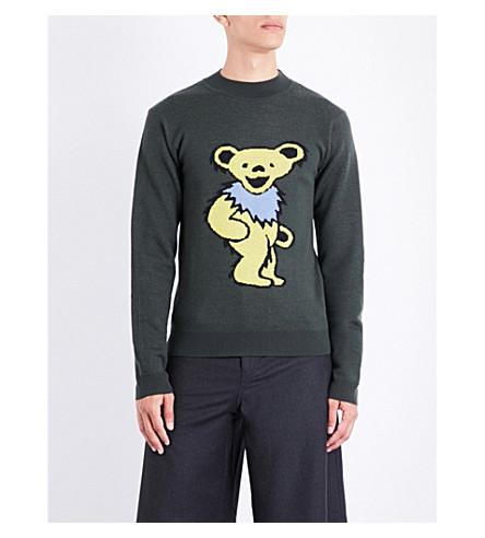JW ANDERSON Grateful Bear wool jumper (Peat