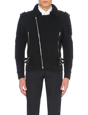 SIBLING Zip-detail knitted jacket