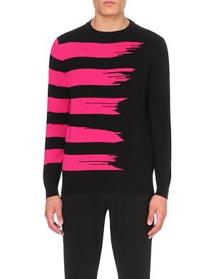 SIBLING Parallel lines wool jumper