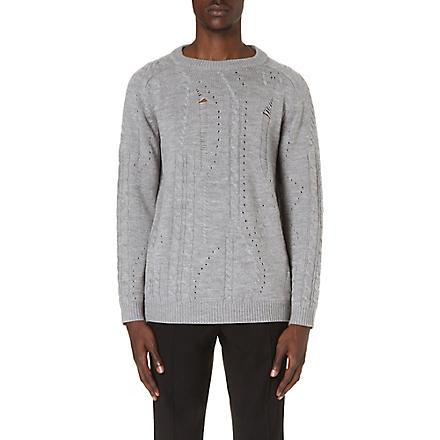 SIBLING Drop-stitch jumper (Grey