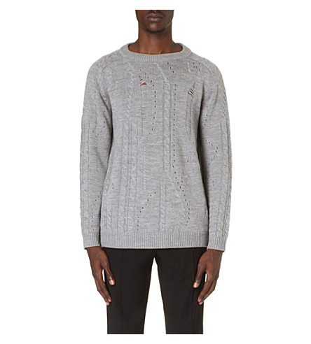 SIBLING Drop-stitch jumper (Grey