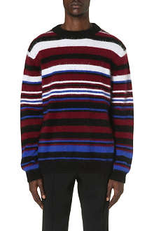 SIBLING Angora striped jumper