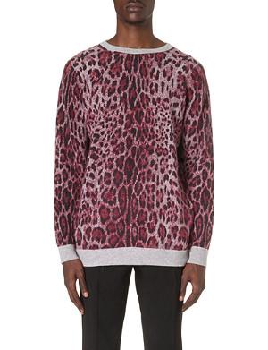 SIBLING Leopard-print jumper