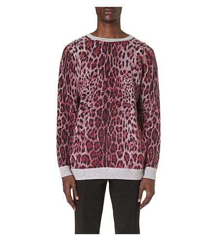 SIBLING Leopard-print jumper (Burgandy