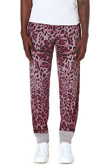SIBLING Leopard print jogging bottoms