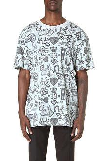 SIBLING Folk-print t-shirt