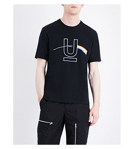 UNDERCOVER Light refraction-print cotton T-shirt (Black