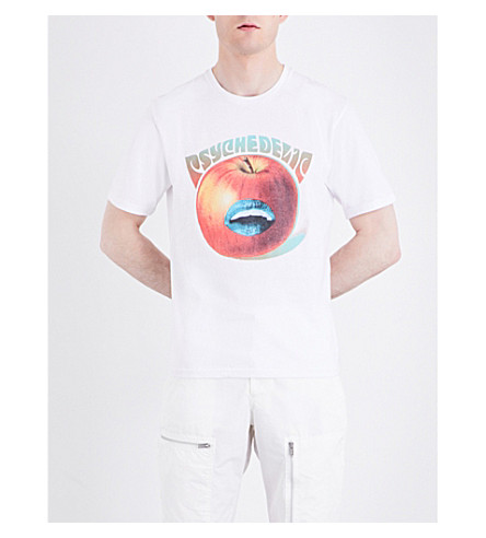 UNDERCOVER Psychedelic apple-print cotton-jersey T-shirt (White