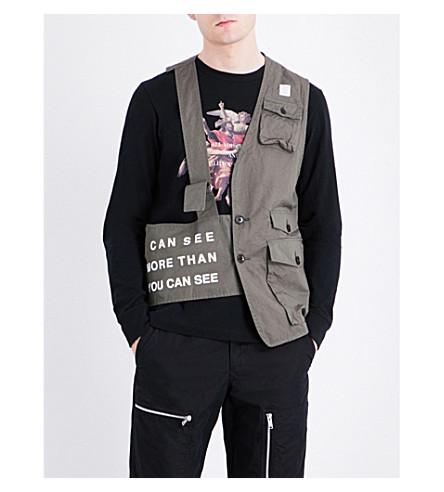 UNDERCOVER Half-exposed cotton waistcoat (Khaki