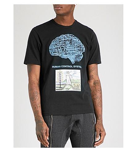 UNDERCOVER Brain Computer cotton-jersey T-shirt (Black