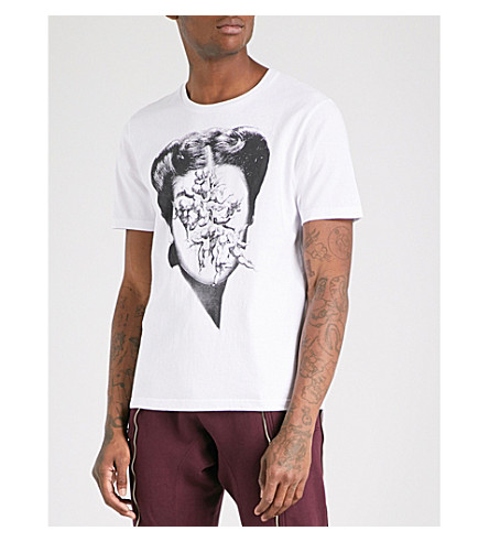 UNDERCOVER Face with cupid-print cotton-jersey T-shirt (White