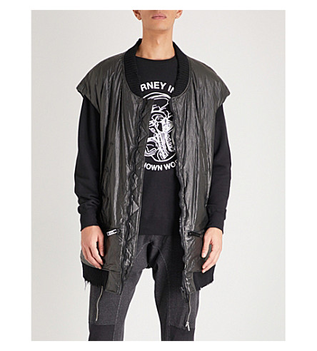 UNDERCOVER Graphic-print shell bomber jacket (Black
