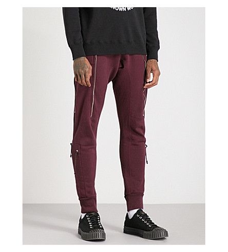 UNDERCOVER Tapered cotton jogging bottoms (Bordeaux