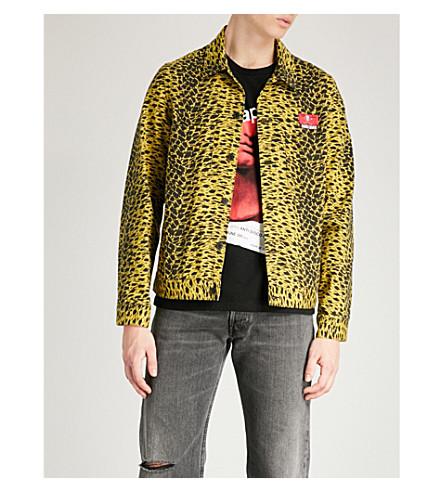 UNDERCOVER Skull-appliqué denim jacket (Mustard