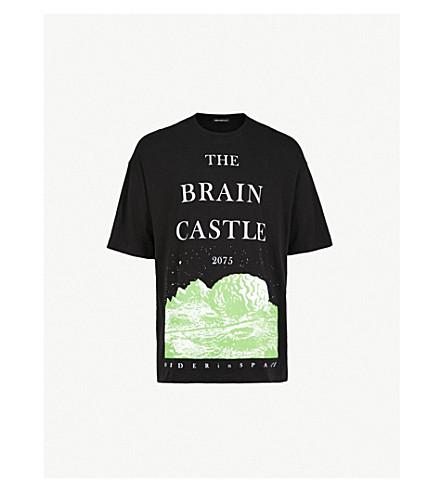 UNDERCOVER 脑城堡平纹针织棉 T 恤 (黑色