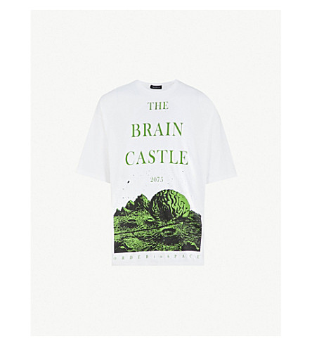 UNDERCOVER The Brain Castle cotton-jersey T-shirt (White