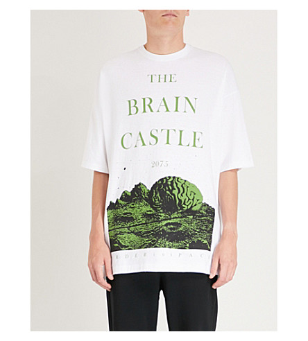 UNDERCOVER The Brain Castle cotton-jersey T-shirt (White