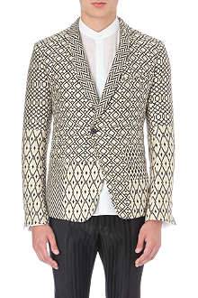 HAIDER ACKERMANN Geometric woven jacquard blazer