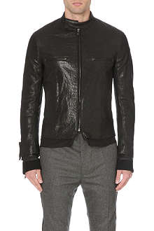HAIDER ACKERMANN Layered-cuff leather jacket