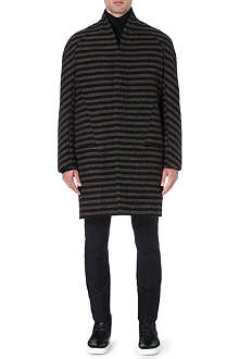 HAIDER ACKERMANN Striped raglan overcoat