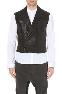 HAIDER ACKERMANN Leather waistcoat