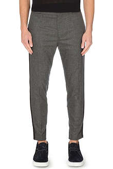 HAIDER ACKERMANN Striped-seam flannel trousers