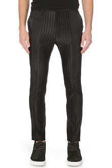 HAIDER ACKERMANN Grosgrain-striped wool and silk-blend trousers