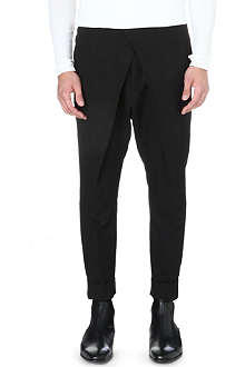 HAIDER ACKERMANN Drop-crotch tapered trousers