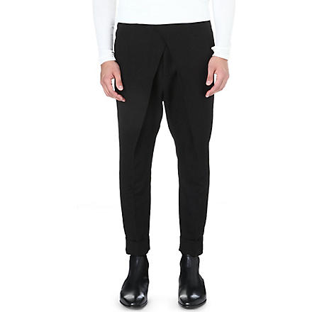HAIDER ACKERMANN Drop-crotch tapered trousers (Black