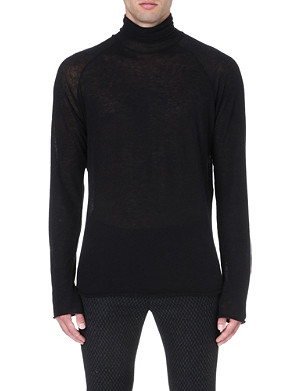 HAIDER ACKERMANN Semi-sheer knitted top