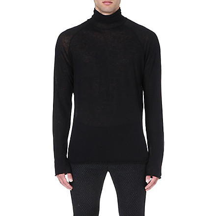 HAIDER ACKERMANN Semi-sheer knitted top (Black