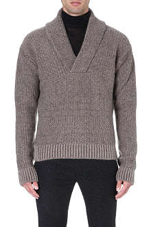 HAIDER ACKERMANN Shawl-collar knitted jumper