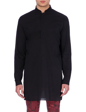 HAIDER ACKERMANN Slim-fit tunic cotton shirt