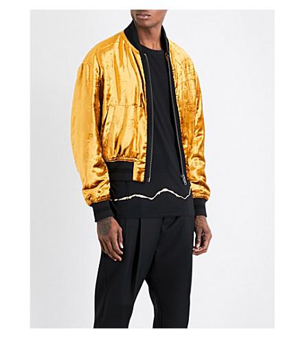 HAIDER ACKERMANN Crushed velvet bomber jacket (Gold